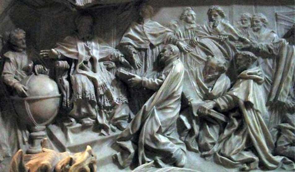 Detalle de la tumba del papa Gregorio XIII en el cual se celebra la introducción del calendario gregoriano. (Dominio público)