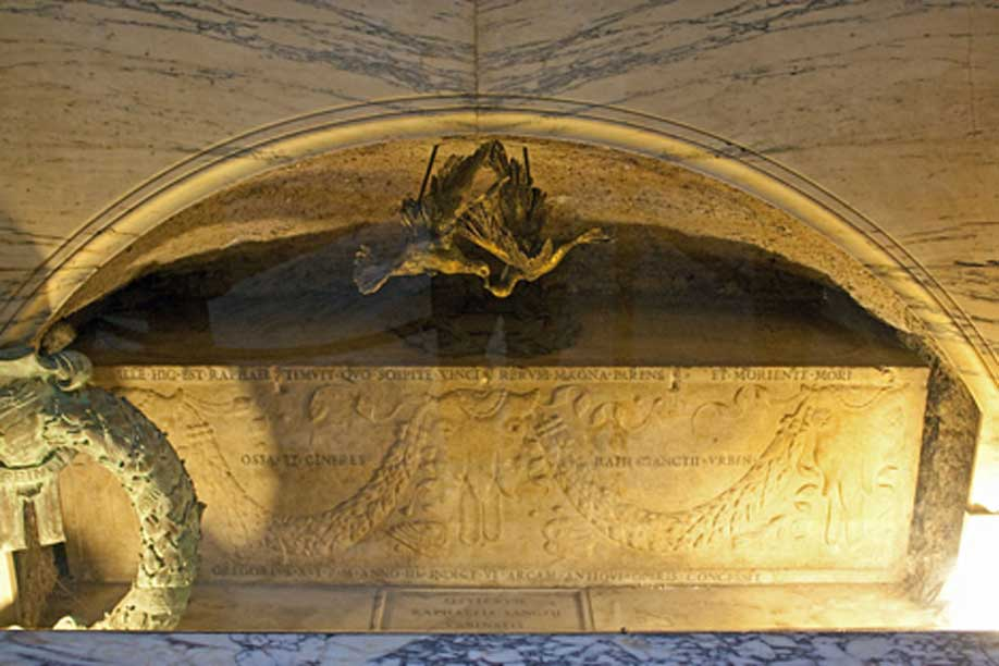 La tumba de Rafael Sanzio en el Panteón de Roma (Italia). (CC BY SA 3.0)