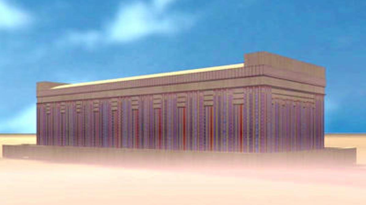 Reconstrucción de la tumba Tarkhan 2050, lugar en el que fue descubierto el vestido Tarkhan. (Museo Petrie de Arqueología Egipcia - UCL)