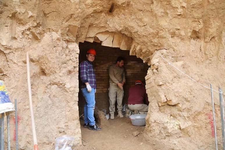 La tumba asiria recientemente descubierta en Erbil, Iraq. (Goran M. Amin)