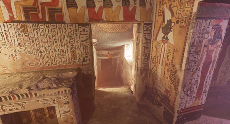 La tumba de Nefertari es una de las de mayor tamaño del Valle de las Reinas. (Imagen: CuriosityStream)