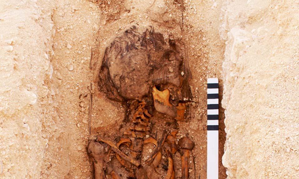 Tumba de un joven individuo en el cementerio de las Tumbas Norte, Amarna, Egipto. Fotografía: Mary Shepperson/Cortesía del Proyecto Amarna