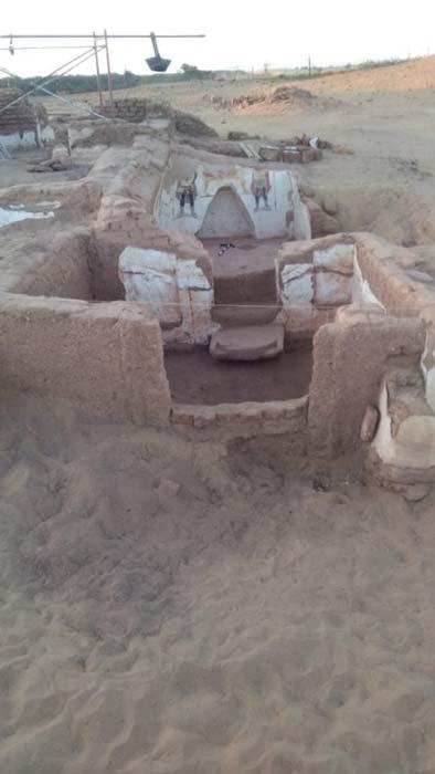 Una de las tumbas romanas. (Sada El Balad English)