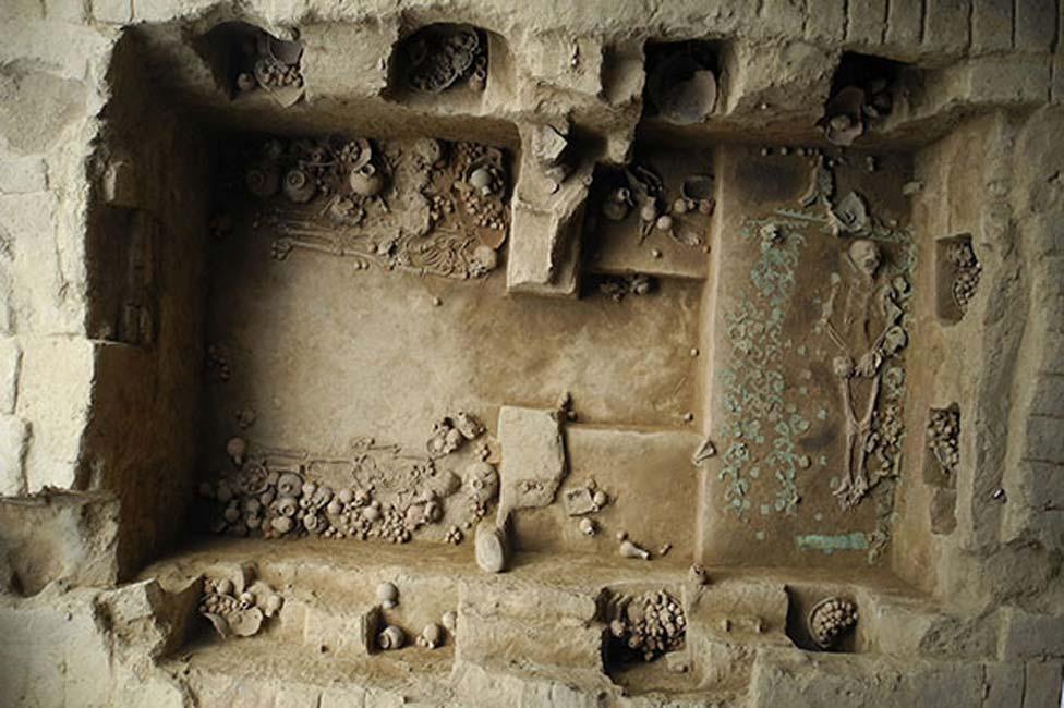 La espectacular tumba de la última sacerdotisa del Período Mochica, descubierta en el año 2013. Cortesía de Luis Castillo (harvard.edu)