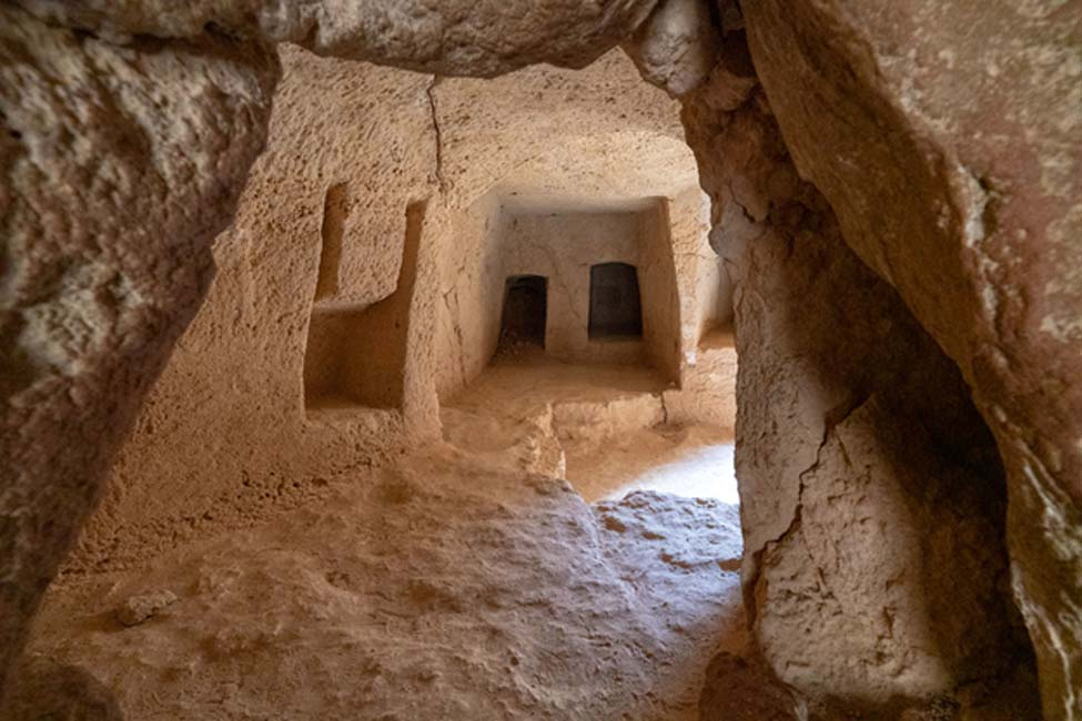 Cámaras funerarias de las Tumbas de los Reyes de Chipre.