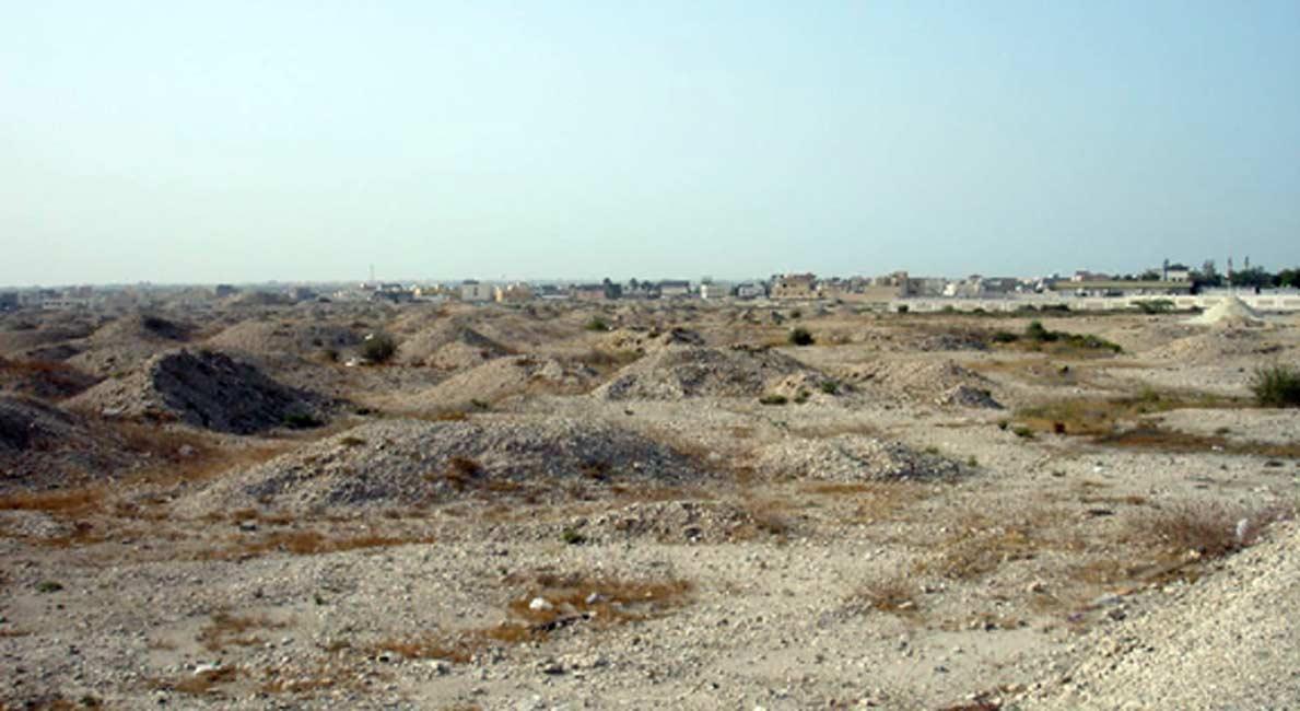 Túmulos funerarios de A'ali, Bahréin, datados en la época Dilmún de la historia de Bahréin. (Public Domain)