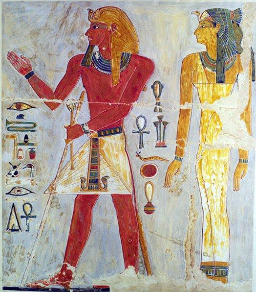 Tutmosis I tal y como aparece retratado en el templo de Hatshepsut de Deir el-Bahri. Imagen: Paul James Cowie/Wikimedia Commons.