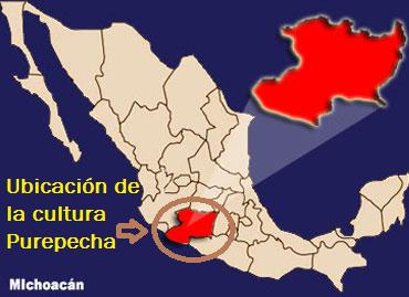 Ubicación geográfica del pueblo Purépecha en México