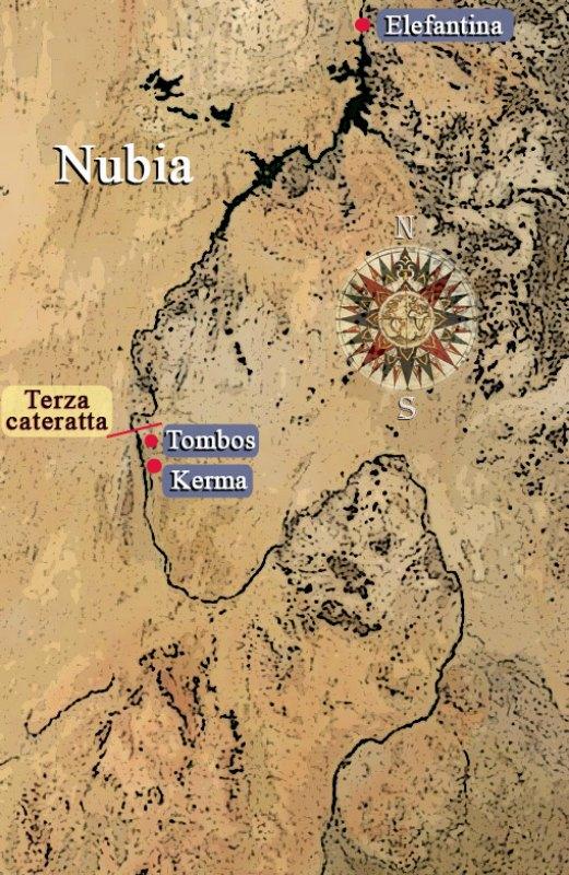 Ubicación geográfica de Tombos, antigua capital de Nubia. (Peppe64/Public Domain)