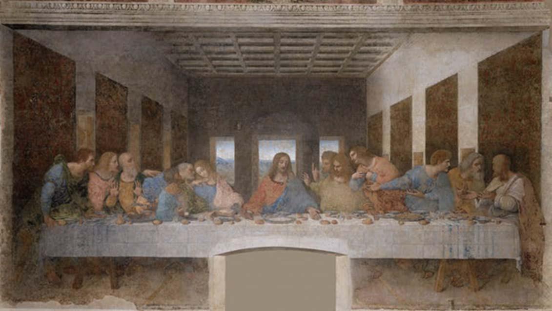 Las ropas que vestía Jesús probablemente eran muy diferentes de las que podemos ver en la 'Última Cena' de Leonardo da Vinci. (Dominio público)