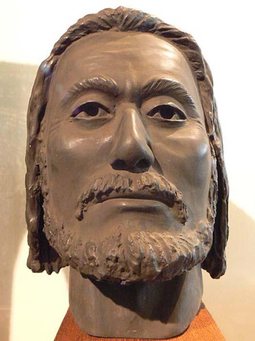 Una reconstrucción antropológica con arcilla de la cara de Tzar Kaloyan, hecha por el profesor Yordan Yordanov sobre la base del cráneo. (Spiritia / CC BY-SA 3.0)