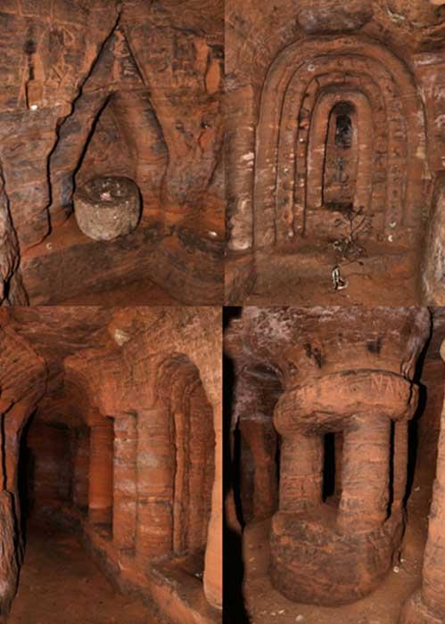 Fotografías del interior de las cuevas de Caynton. (UK Urban Exploration)