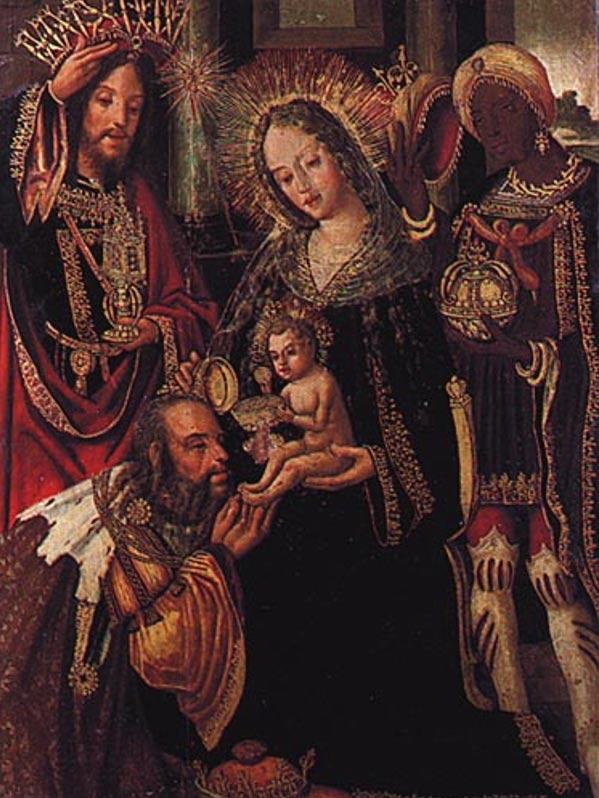 Adoración de los Magos (1518), obra de Vicente Gil. Museo Nacional de Machado de Castro, Coimbra, Portugal (Wikimedia Commons)