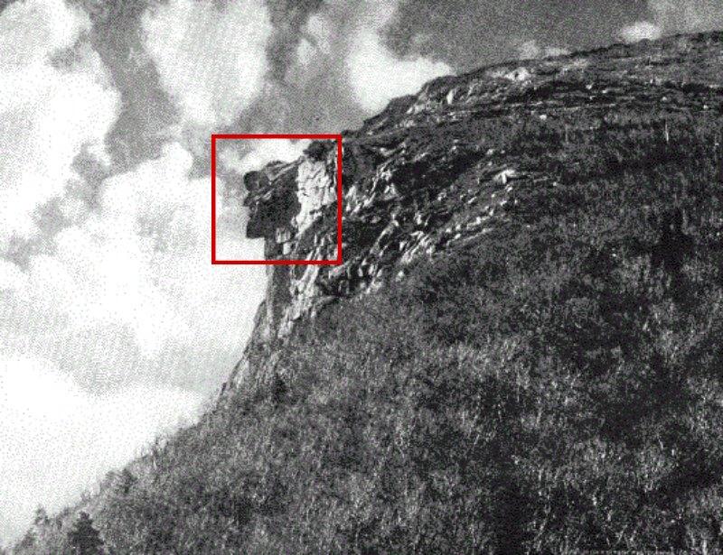 """""""El Viejo de la Montaña"""" en una fotografía de 1911. (Public Domain)"""