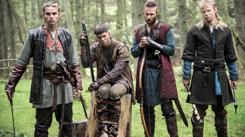 Ivar Sin Huesos (segundo por la izquierda) junto con sus hermanos en una imagen de la serie del Canal Historia 'Vikingos'. (Canal Historia)