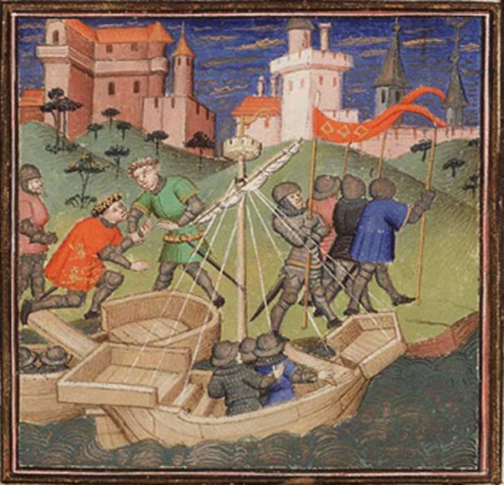 Vincent de Beauvais, Le Miroir Historial (Vol. IV): Guillermo el Conquistador invade Inglaterra. (Dominio público)