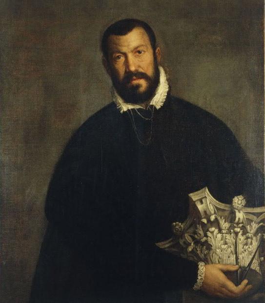 Retrato del arquitecto Vincenzo Scamozzi obra de Paolo Veronese, pintado en torno al 1505. Se hizo cargo de la arquitectura de la Biblioteca Nazionale Marciana tras la muerte de Sansovino. (Wikimedia Commons)