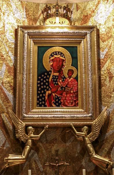'Nuestra Señora de Czestochowa', réplica del icono de Nuestra Señora de Czestochowa expuesta en la capilla polaca de la Basílica del Santuario Nacional de la Inmaculada Concepción, Washington DC. (CC BY-NC-ND 2.0)
