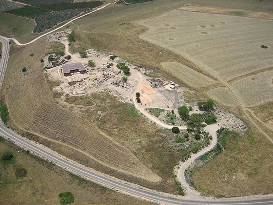 Vista aérea de la antigua ciudad de Hazor (Tel Hatzor), Israel. (Dominio público)
