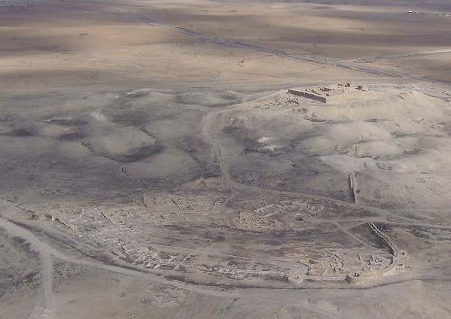 Vista aérea de Tel Arad. (Dominio público)