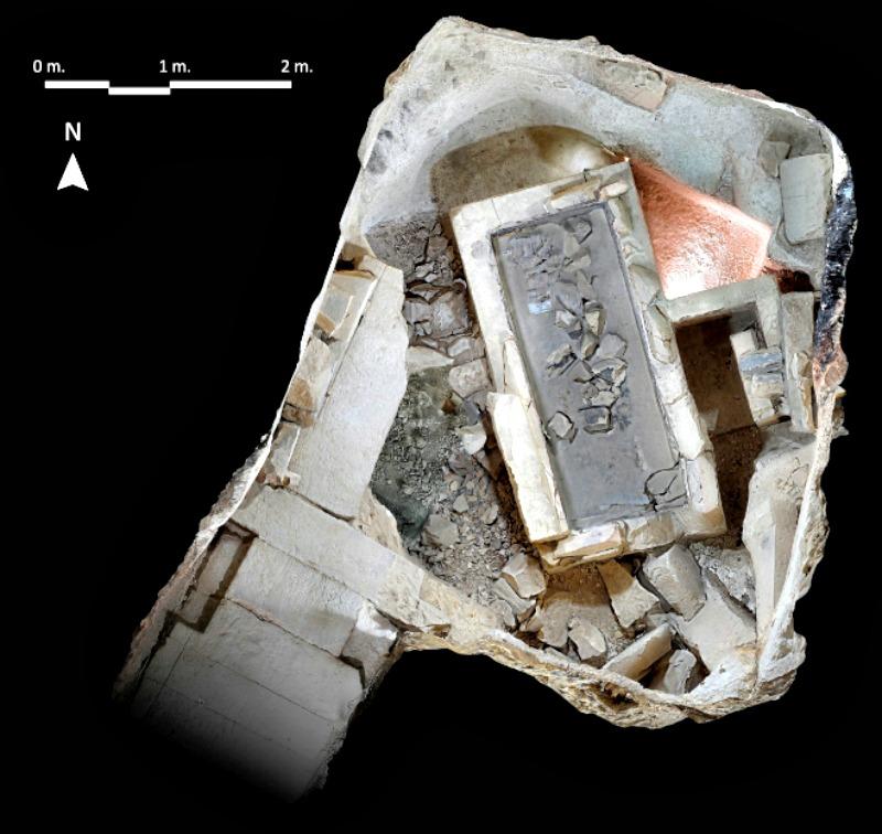 Vista cenital de la cámara funeraria de Ipi. (Fotografía: El Mundo/ Francisco Carrión)