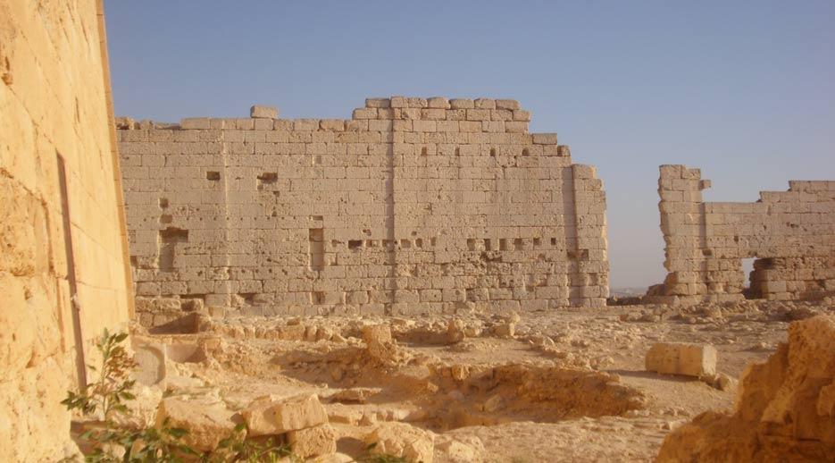 Vista interior en dirección sur del templo de Osiris de Taposiris Magna. (CC BY-SA 3.0)