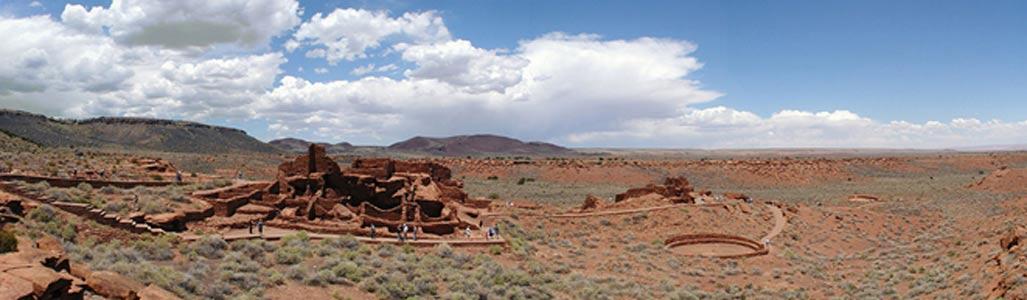 Vista de las ruinas de Wupatki. (CC BY SA 2.5)
