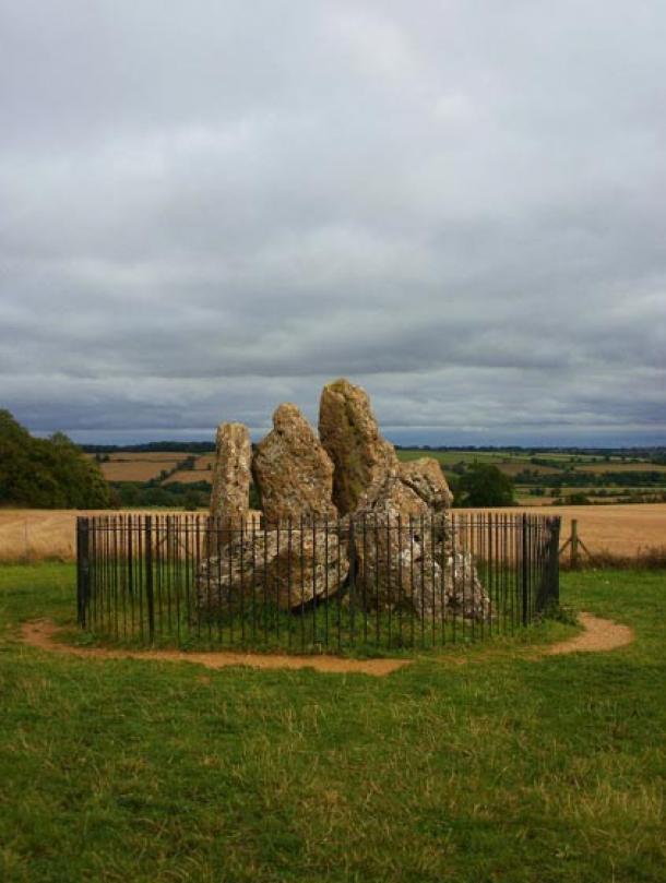 Los Caballeros Susurrantes, un dolmen neolítico de las Piedras de Rollright en los Cotswolds, en Inglaterra (Midnightblueowl/Wikimedia Commons)