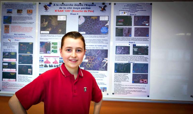 William Gadoury, el adolescente canadiense de 15 años que asegura haber descubierto una nueva y ancestral ciudad maya en la península de Yucatán, México. (Fotografía: Le Journal de Montréal/Martin Chevalier)