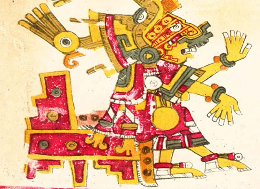 Códice Ríos, ilustración de Xochiquetzal. (Dominio público)