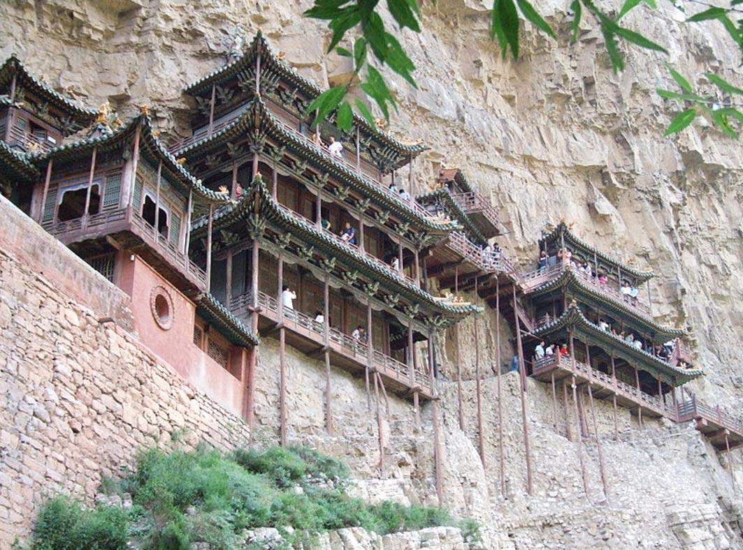 Xuan Kong Si, El Monasterio Colgante. (Wikimedia Commons)