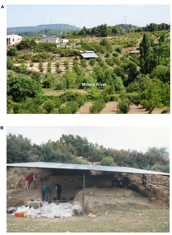 Ubicación y estado actual del yacimiento tarraconense del Molí del Salt. (Fotografías: Manuel Vaquero/PLUS ONE)