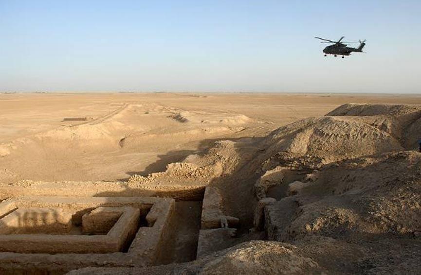 Vista general del yacimiento arqueológico de la antigua Uruk situado en la actual Warka, Irak. (OGL)