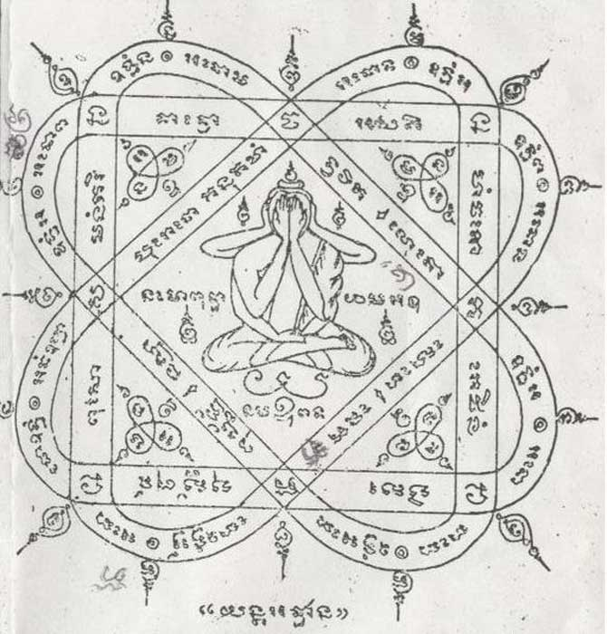 """Amuleto Thai o """"Yantra"""". (Sakyant/CC BY SA 3.0)"""