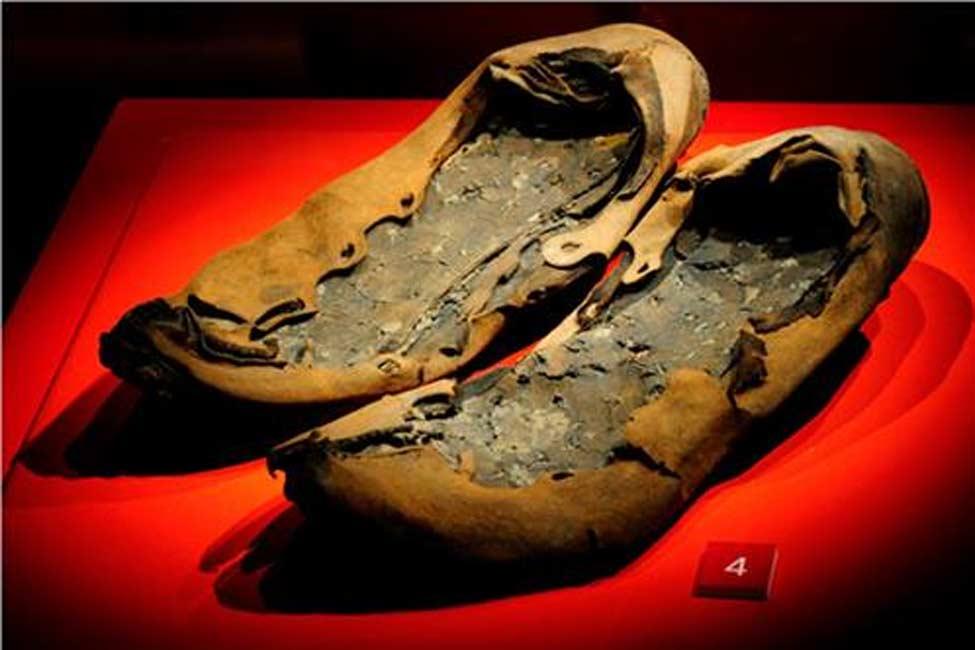 Zapatos romanos hallados en Vindolanda. (Fotografía: Vindolanda Trust)