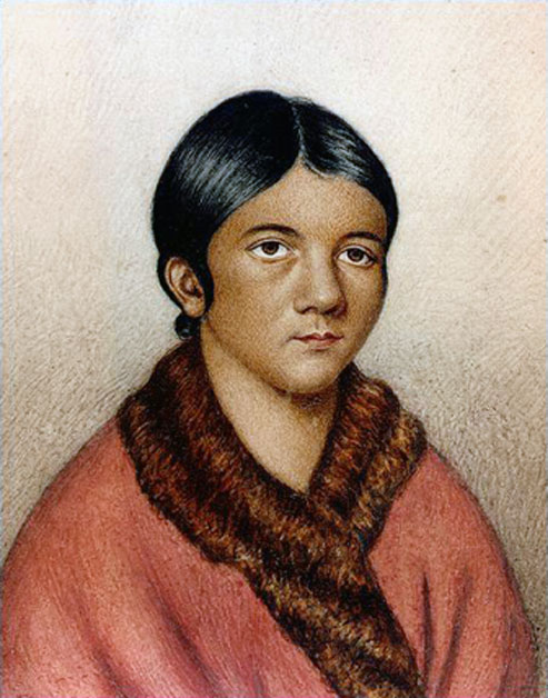 Una mujer de Beothuk, posiblemente Demasduit (Mary March). (Dominio publico)