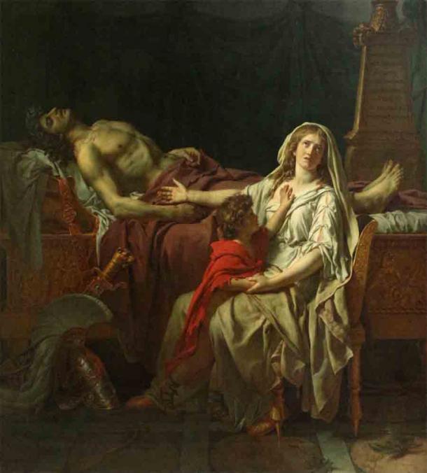 Andrómaca lamentando la muerte de su esposo Héctor de Troya. (Sailko / CC BY 3.0)