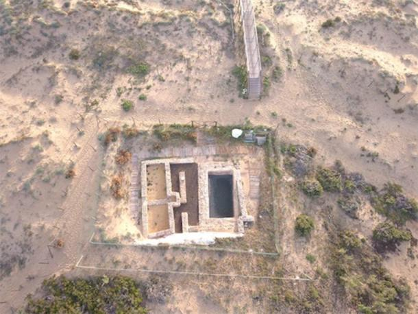 Una vista aérea de la villa romana que fue superada por los poderes musulmanes de España. Luego, la villa fue renovada para incluir una torre islámica y una mezquita. (Universidad de Alicante)