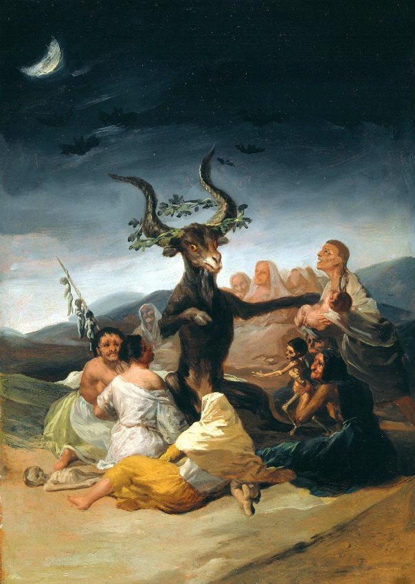 El aquelarre, pintura de Francisco de Goya (Museo Lázaro Galdiano, Madrid, 1797-98)