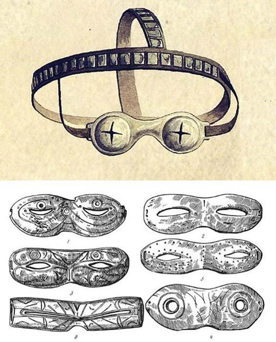 Algunos estaban decorados con tallas y otros no. Los ejemplos se muestran aquí en estos dibujos. Fotos: YakutCostume, Los tiempos de Siberia
