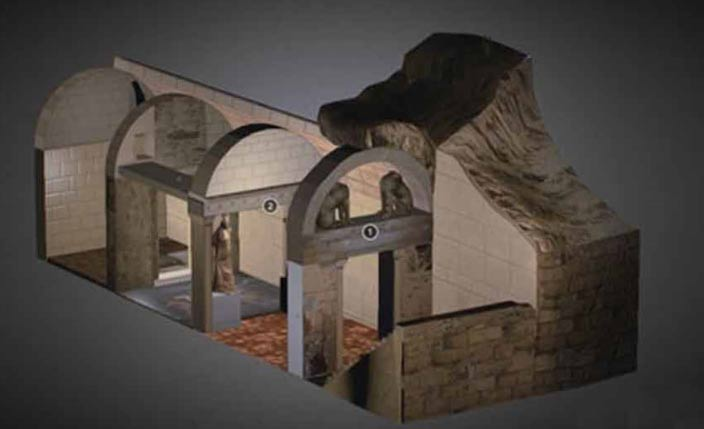 Modelo tridimensional de la Tumba de Anfípolis realizado por Greektoys.org (Sketchfab)
