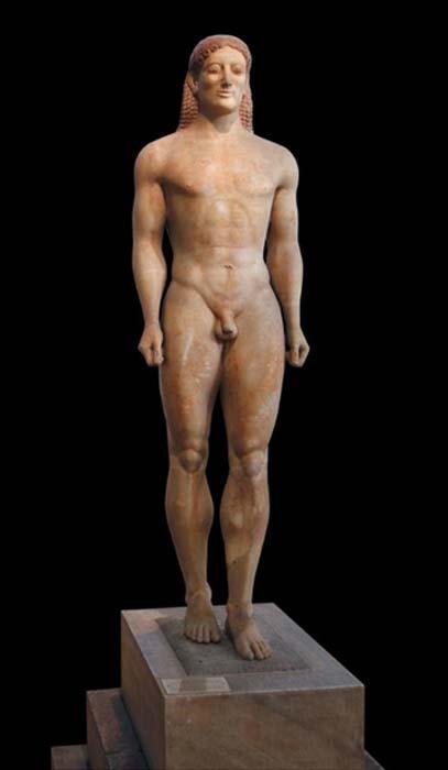 Anavysos Kouros, c. 530 a.C. (Steven Zucker / CC BY NC SA 2.0)