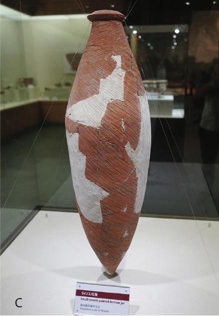 Una de las ánforas antiguas desenterradas en el sitio, restaurada y utilizada en el estudio. (Li Liu / Yongqiang Li / Jianxing Hou)