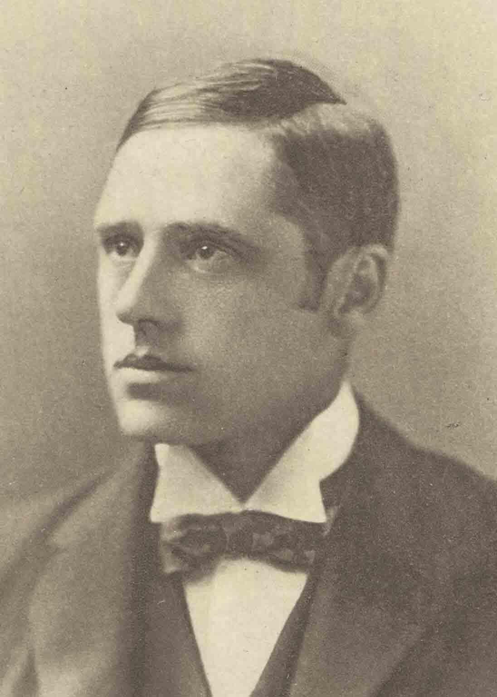 """Andrew Barton """"Banjo"""" Paterson en una foto de 1890 d.C. (Biblioteca Nacional de Australia / dominio público)"""