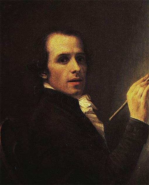 Autorretrato de Antonio Canova, 1790. (Dominio público)
