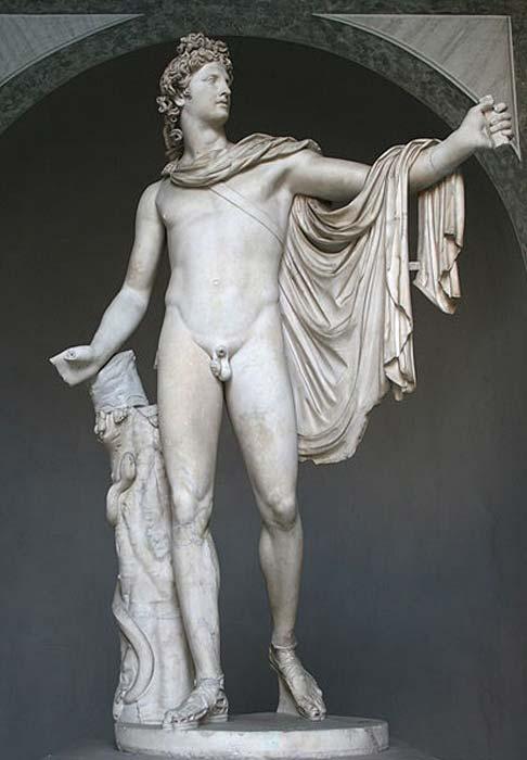 Apollo Belvedere. Copia romana según un original griego en bronce de 330-320 a.C., atribuido a Leochares. Encontrado a finales del siglo XV. (Jean-Pol GRANDMONT / CC BY SA 3.0)