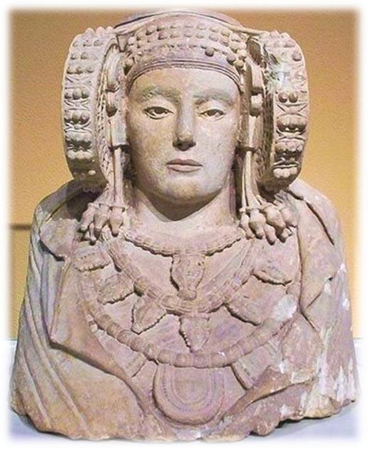 Artefacto de la Dama de Elche en España. (Proporcionado por el autor)