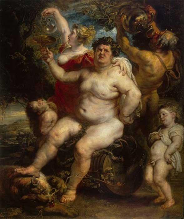 Baco, dios romano de la agricultura, el vino y la fertilidad de Peter Paul Rubens. (Dominio publico)
