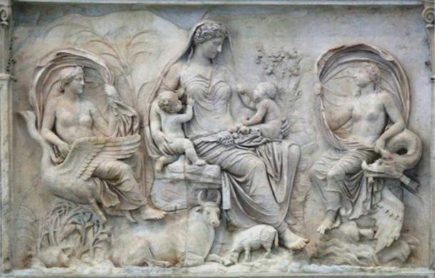 Según algunos historiadores, los niños de la antigua Roma no eran considerados plenamente humanos hasta que recibían un nombre y eran capaces de comer alimento sólido. (Public Domain)