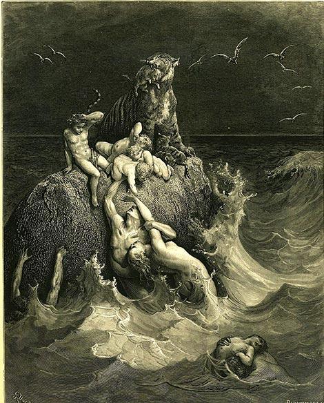La Biblia insinúa la destrucción de los gigantes a través del diluvio. (Mike.lifeguard / Dominio Publico)
